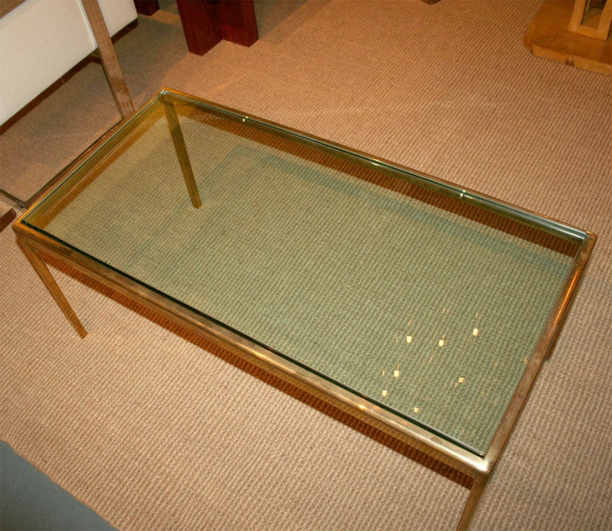 Exceptional Bronze And Glass Cocktail Table By Scope For Sale At 1stdibs