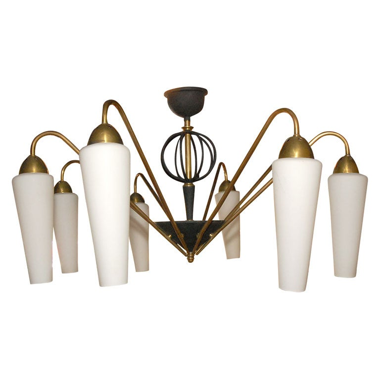 Hemisphere Chandelier From France At 1stdibs