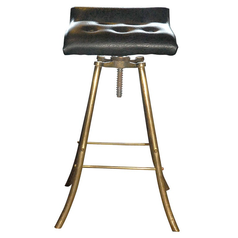 Jacques Adnet Small Vanity Stool at 1stdibs : x from 1stdibs.com size 768 x 768 jpeg 40kB