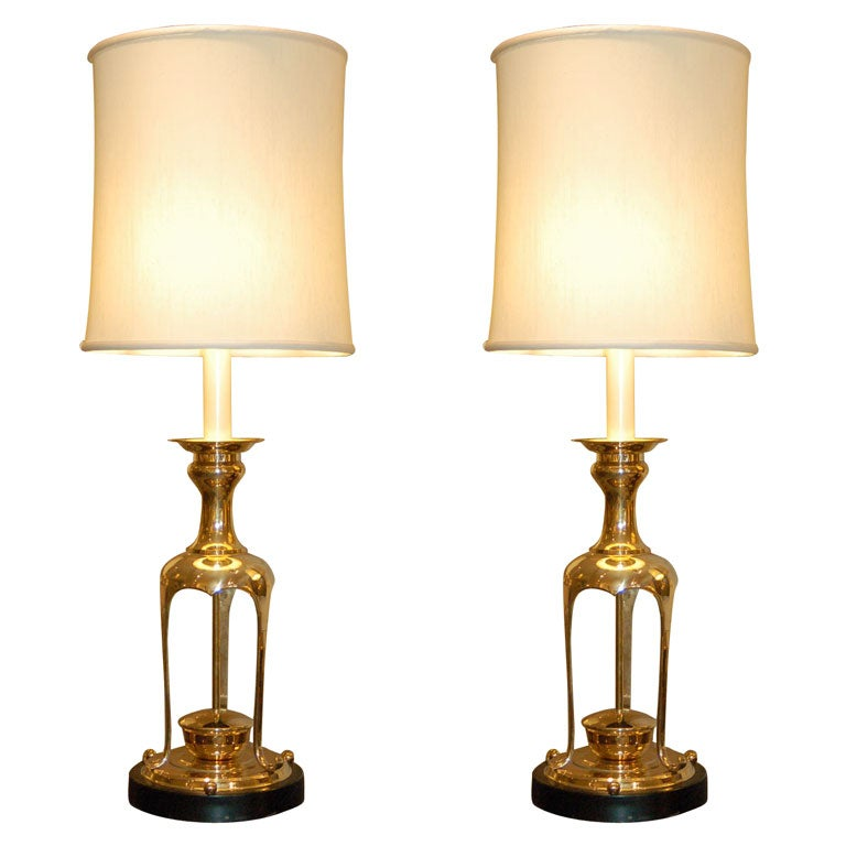 Pair of Lamps in the Style of James Mont