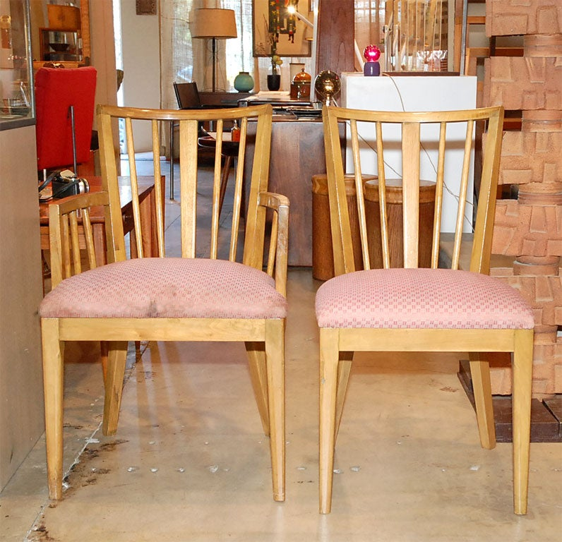Modern Maple Dining Set With Six Chairs Red Lion Furniture Co At 1stdibs