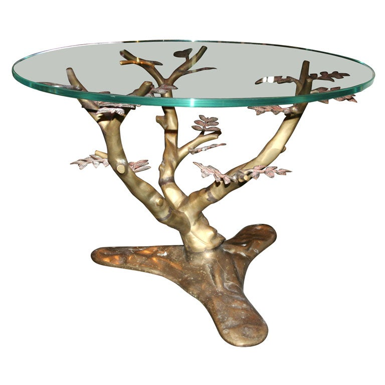 Bronze Coffee Table Modeled as a Tree, German 1940s