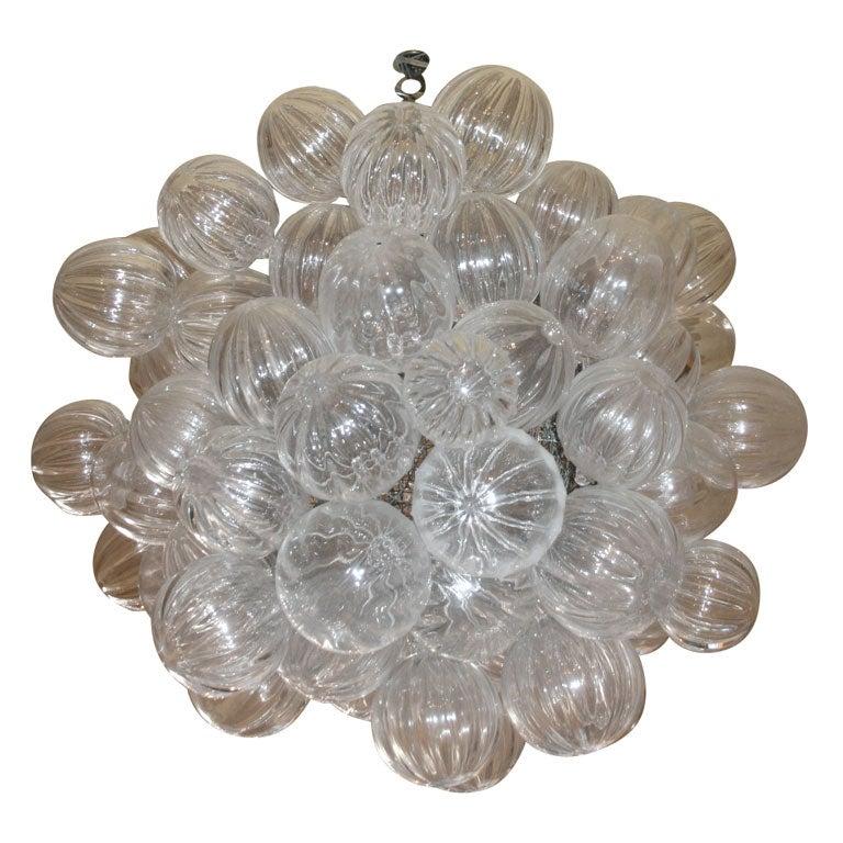 clear handblown glass bubble chandelier at 1stdibs bubble hand blown glass