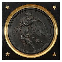 Framed Bronze Plaque after Tholsen Depicting Night