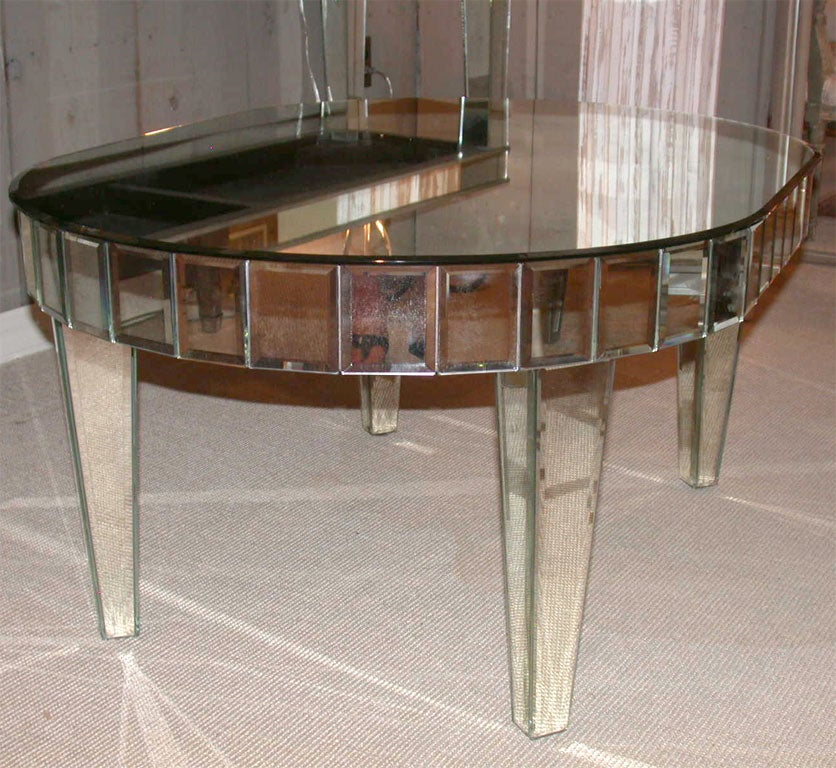 Mirrored Octagon Coffee Table: Oval Venetian Mirrored Coffee Table At 1stdibs