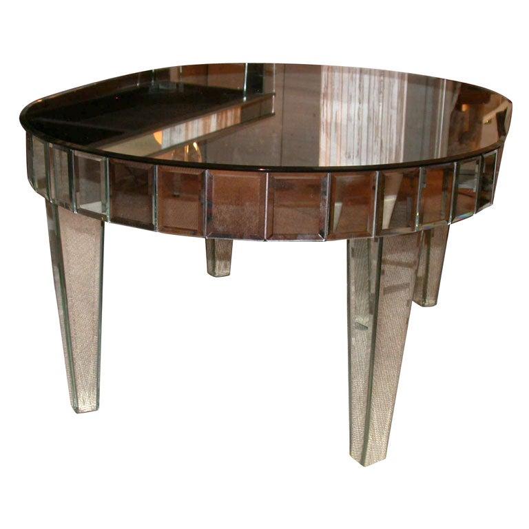 Oval Venetian Mirrored Coffee Table At 1stdibs