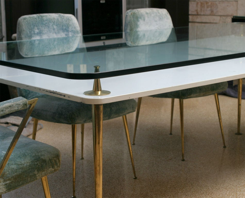 Attributed gio ponti italian dining table and 8 chairs at 1stdibs - Italian dining table sets ...