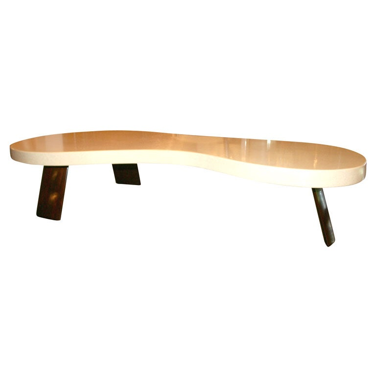 Cork Top Cocktail Table By Paul Frankl For Johnson Furniture At 1stdibs
