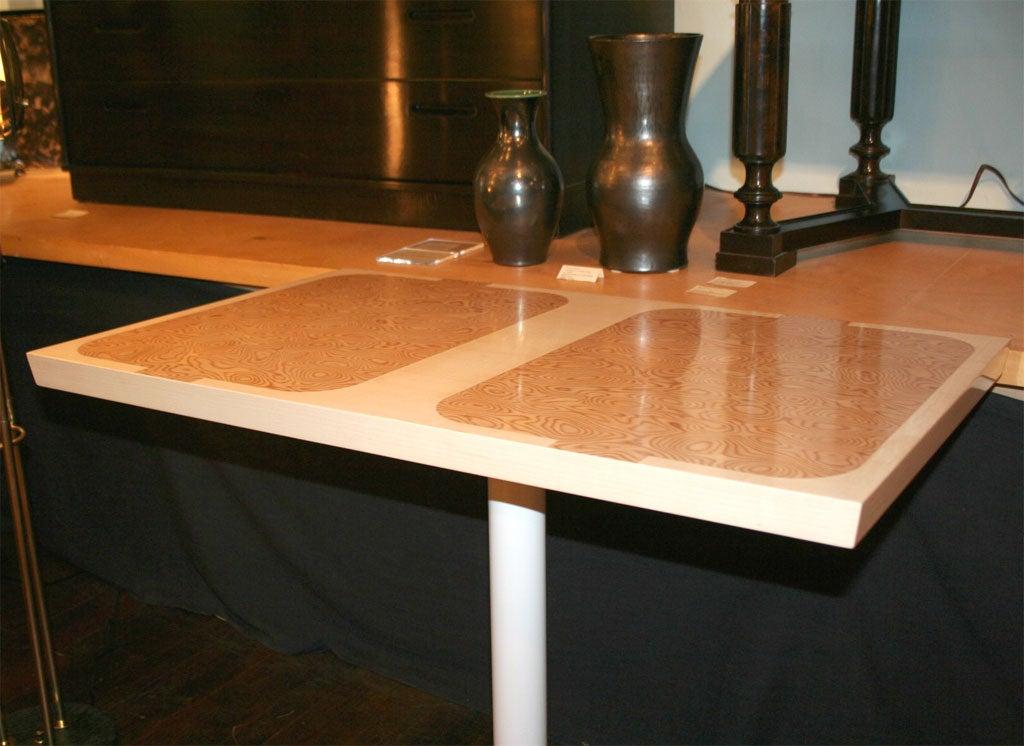 20th Century Custom Design Pedestal Console Table by Paul Laszlo For Sale