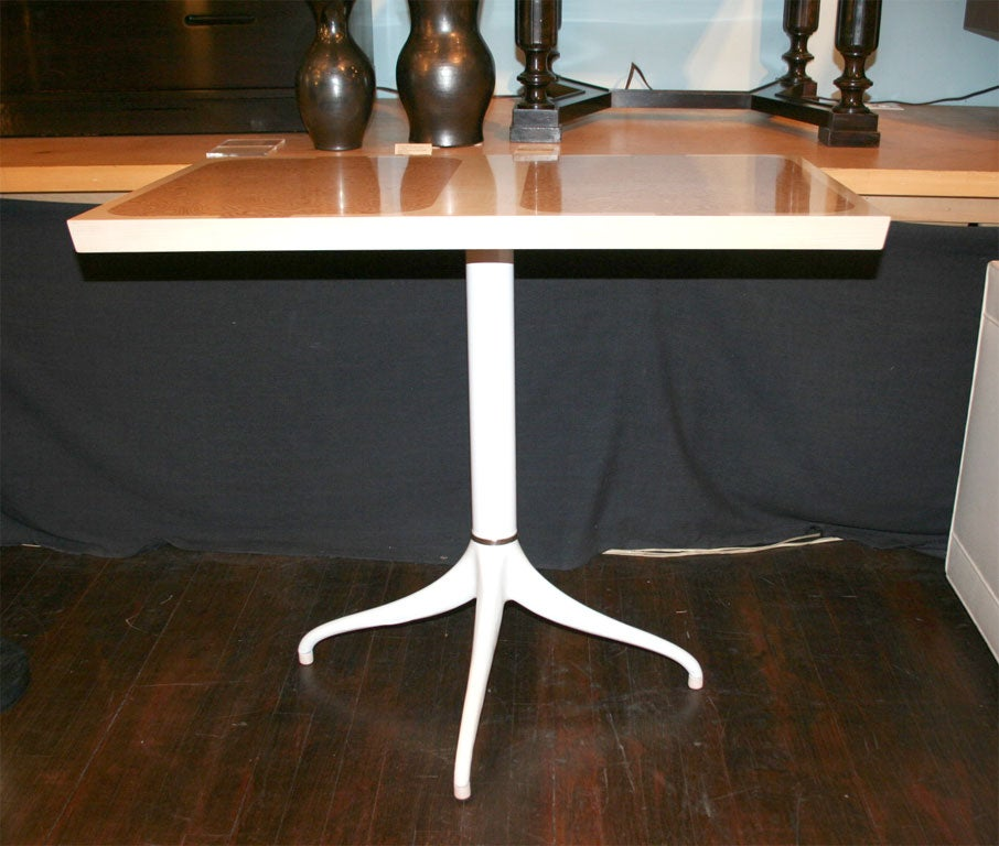 Custom Design Pedestal Console Table by Paul Laszlo For Sale 1