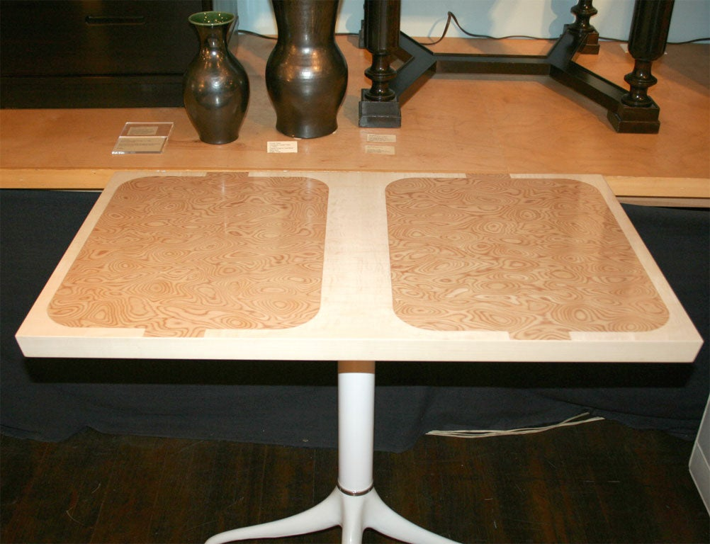 Custom Design Pedestal Console Table by Paul Laszlo For Sale 2