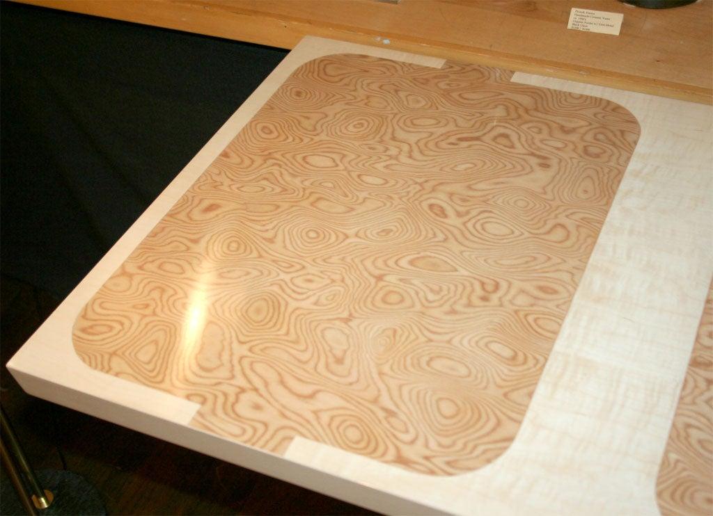 Custom Design Pedestal Console Table by Paul Laszlo For Sale 3