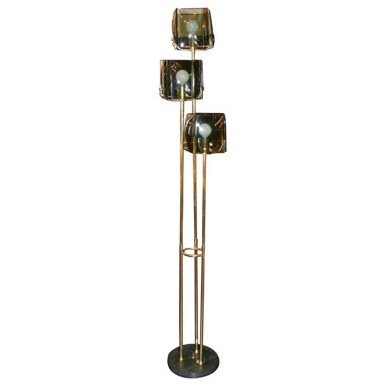 3 light floor lamp by crystal arte at 1stdibs for 3 light crystal floor lamp