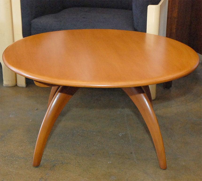 Haywood Wakefield Blonde Lazy Susan Coffee Table At 1stdibs