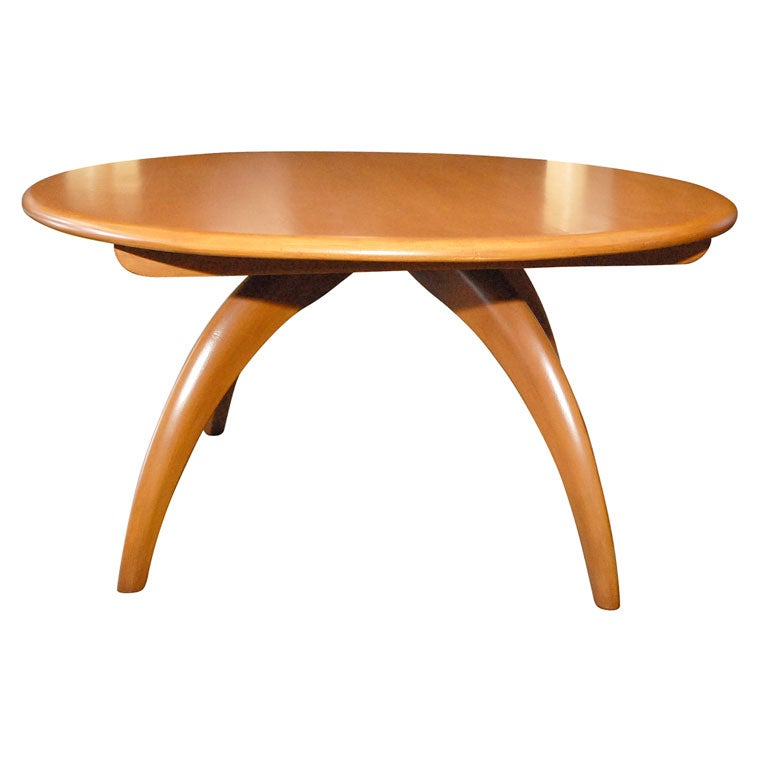 Haywood Wakefield Blonde Lazy Susan Coffee Table At 1stdibs