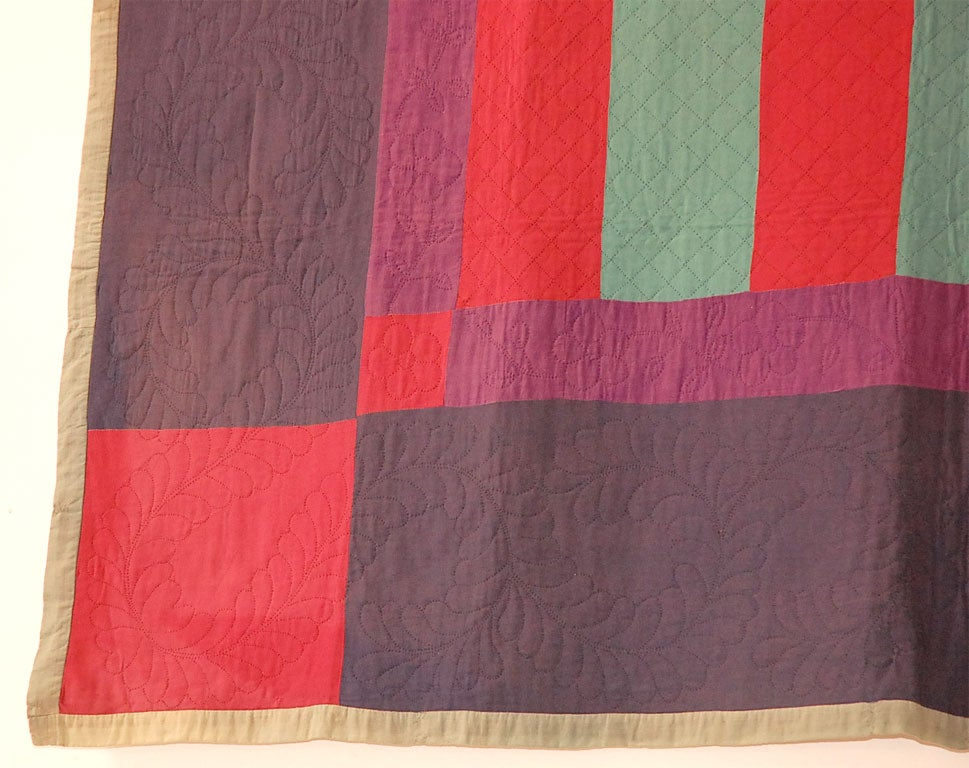 1935 1940 AMISH LANCASTER COUNTYPENNSYLVANIA WOOL BARS QUILT At 1stdibs