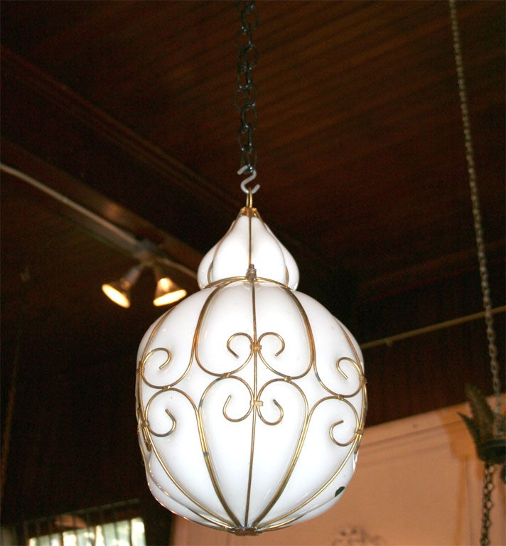 pair of venetian murano glass pendant lights at 1stdibs. Black Bedroom Furniture Sets. Home Design Ideas