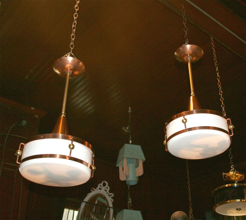 Store Light Fixtures: Pair Of Marshall Field's Barber Shop Light Fixtures At 1stdibs