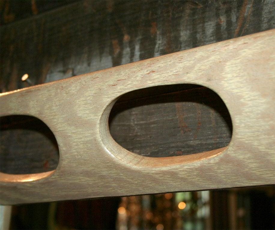 Limed Oak Framed Mirror For Sale 5
