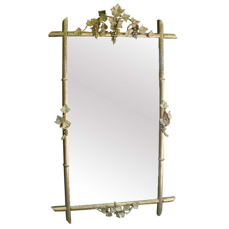 "Gilt Wood ""Bamboo"" Mirror"