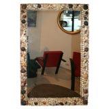 Folk Art Sea Shell Mirror Frame