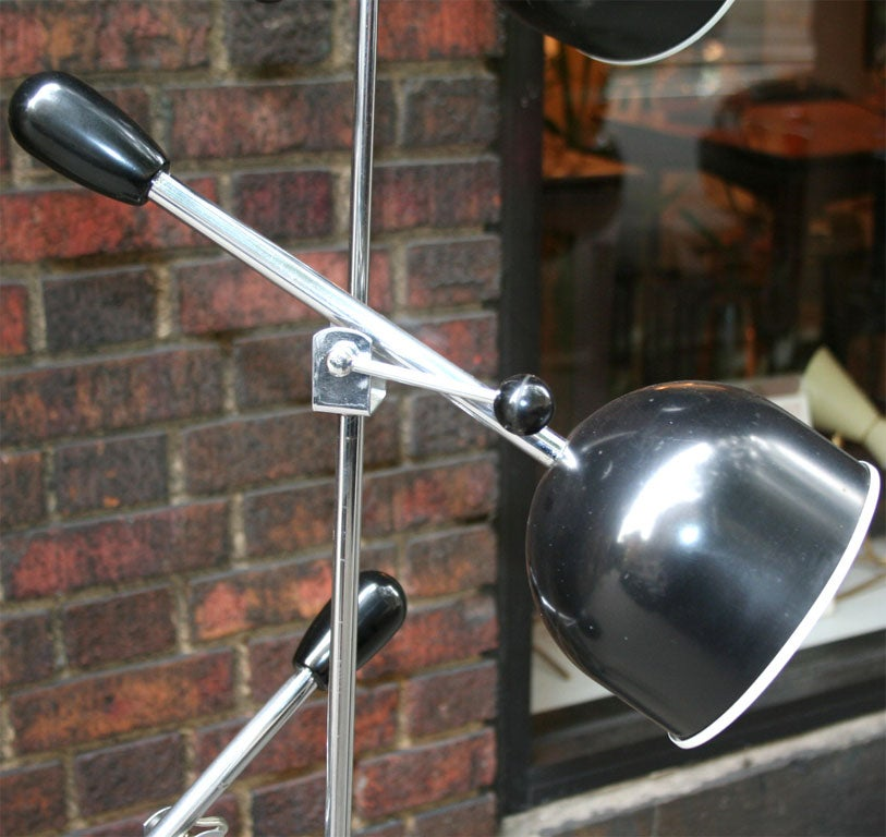 Metal Italian Articulated Floor Lamp For Sale