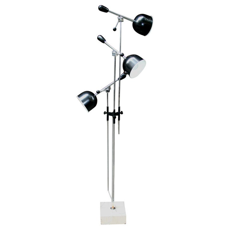 Italian Articulated Floor Lamp For Sale