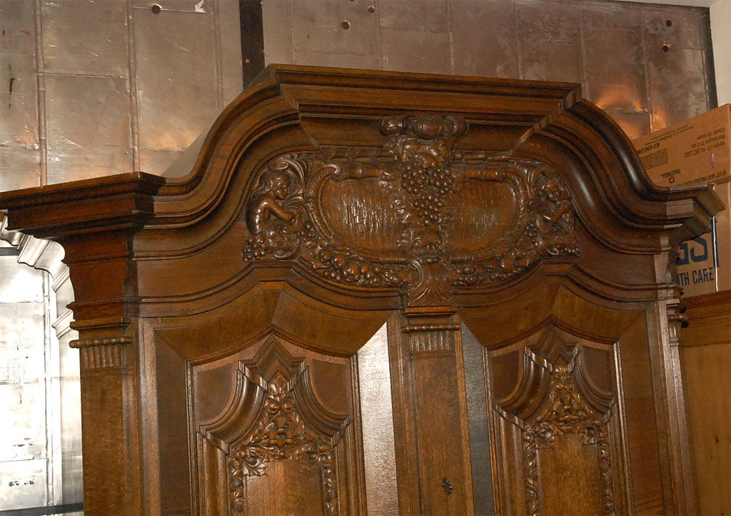 Cushion kas or very large two door cabinet for sale at 1stdibs for Baroque 2 door accent cabinet