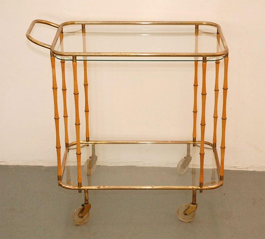 20th Century Italian Bamboo Barcart