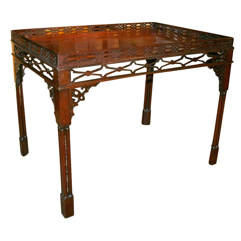George III Mahogany Silver Table, 18th Century