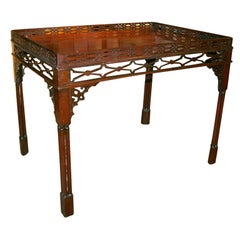 George III Mahogany Silver Table, 18th Century