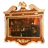 George II Style Walnut and Gilt Overmantle Mirror, mid 19th c.