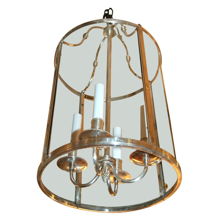 Antique Silverplated Hall Lantern At 1stdibs