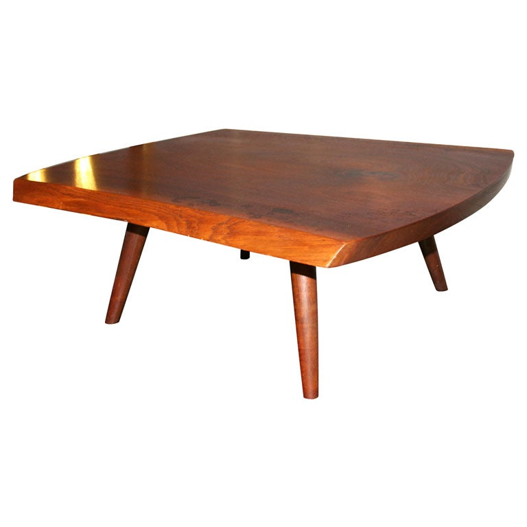 Low Coffee Table In Walnut By George Nakashima At 1stdibs