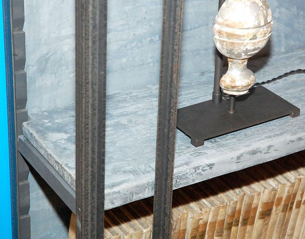 Storage cabinets zinc storage cabinets for Zinc laminate