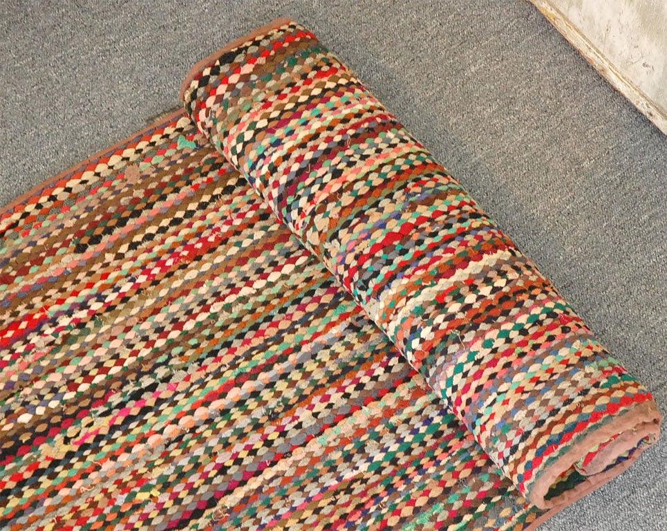 Unusual Multi Color Braided Runner Rug At 1stdibs