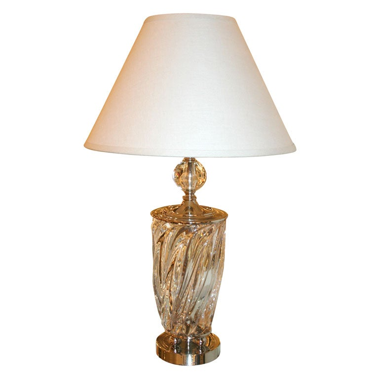 1940 S Baccarat Crystal Lamp At 1stdibs