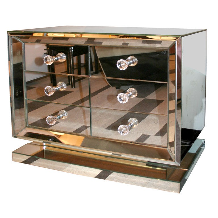1940 S Hollywood Mirrored Commode At 1stdibs