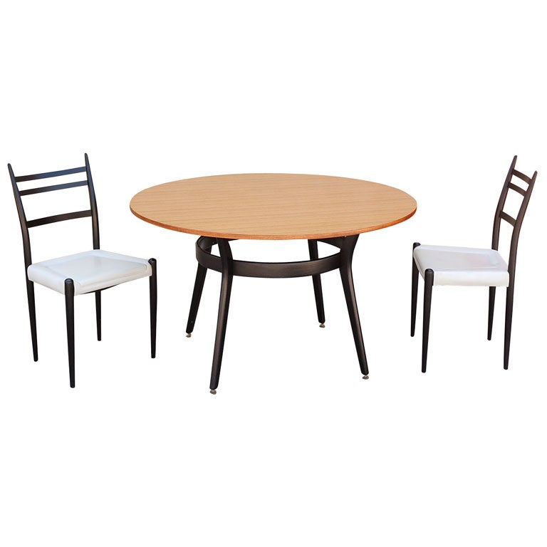 G plan dining table and 4 chairs by john strange high for G plan dining room furniture