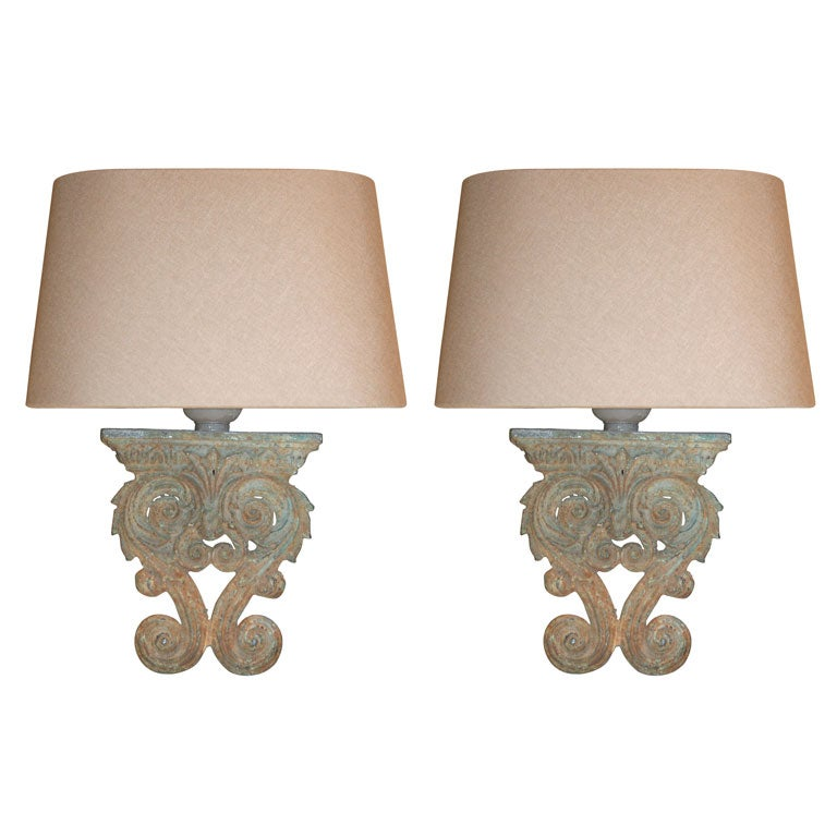 Antique Wall Light Parts : Sconces made from Antique Architectural Parts at 1stdibs