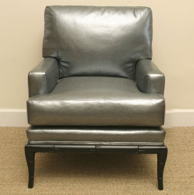 This ultra comfortable t h robsjohn gibbings notched arm chair is no