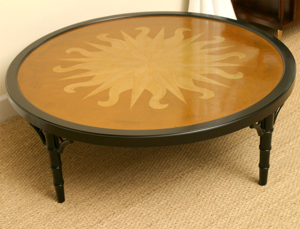 Starburst faux bamboo coffee table at stdibs