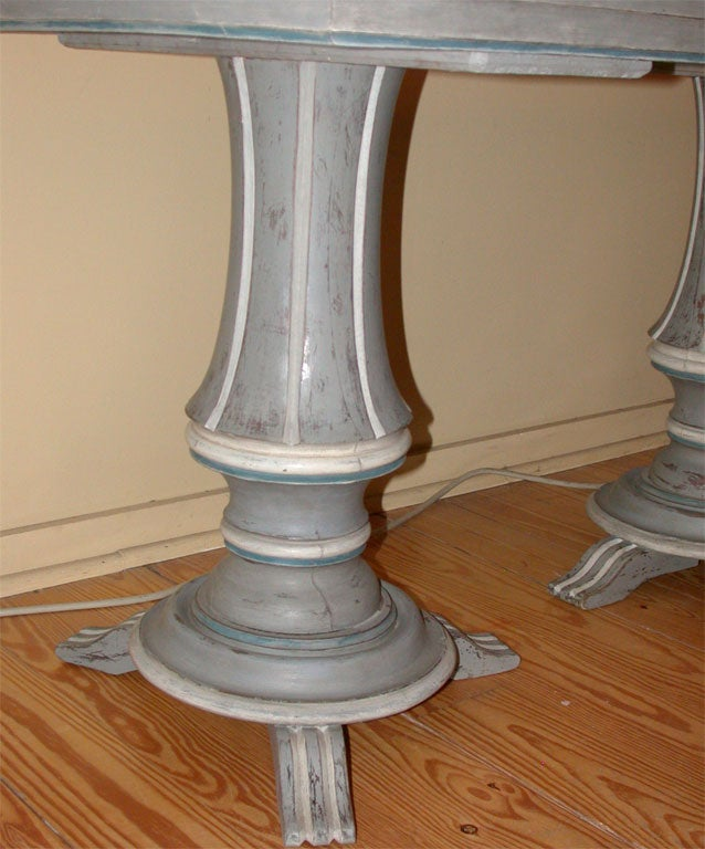 Painted Double Pedestal Table at 1stdibs : DSCN6727 from www.1stdibs.com size 638 x 768 jpeg 71kB
