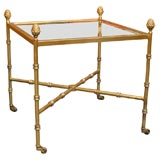 Maison Bagues Style Gilt Metal  Table On Casters