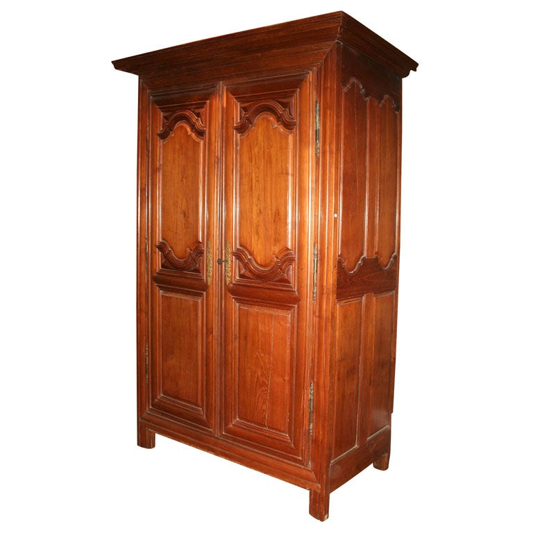 french colonial armoire at 1stdibs. Black Bedroom Furniture Sets. Home Design Ideas