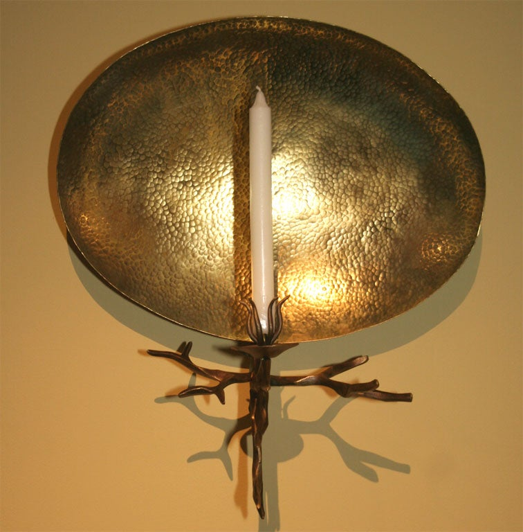 Contemporary Bronze Candle Sconce by Herve van der Straeten at 1stdibs