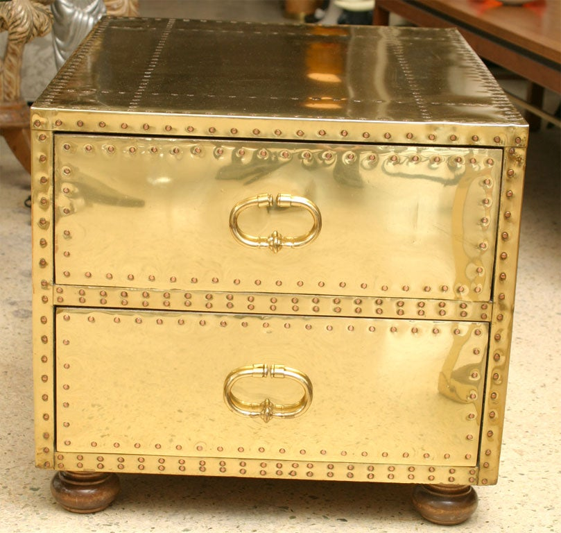 60's Brass Chest of Drawers 2