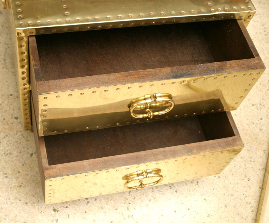 60's Brass Chest of Drawers 3