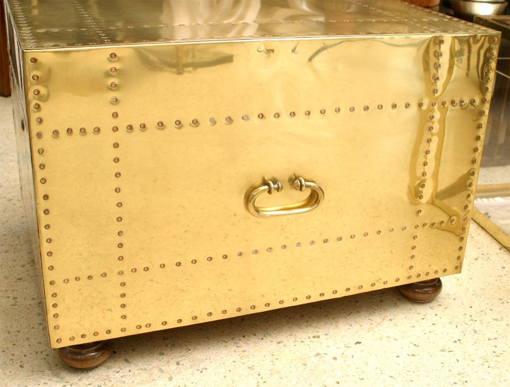 60's Brass Chest of Drawers image 7