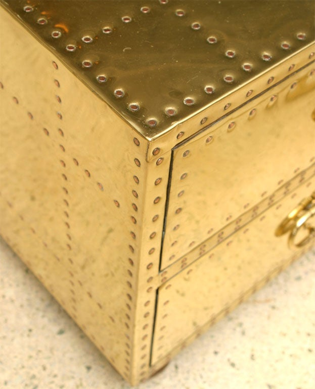 60's Brass Chest of Drawers 10